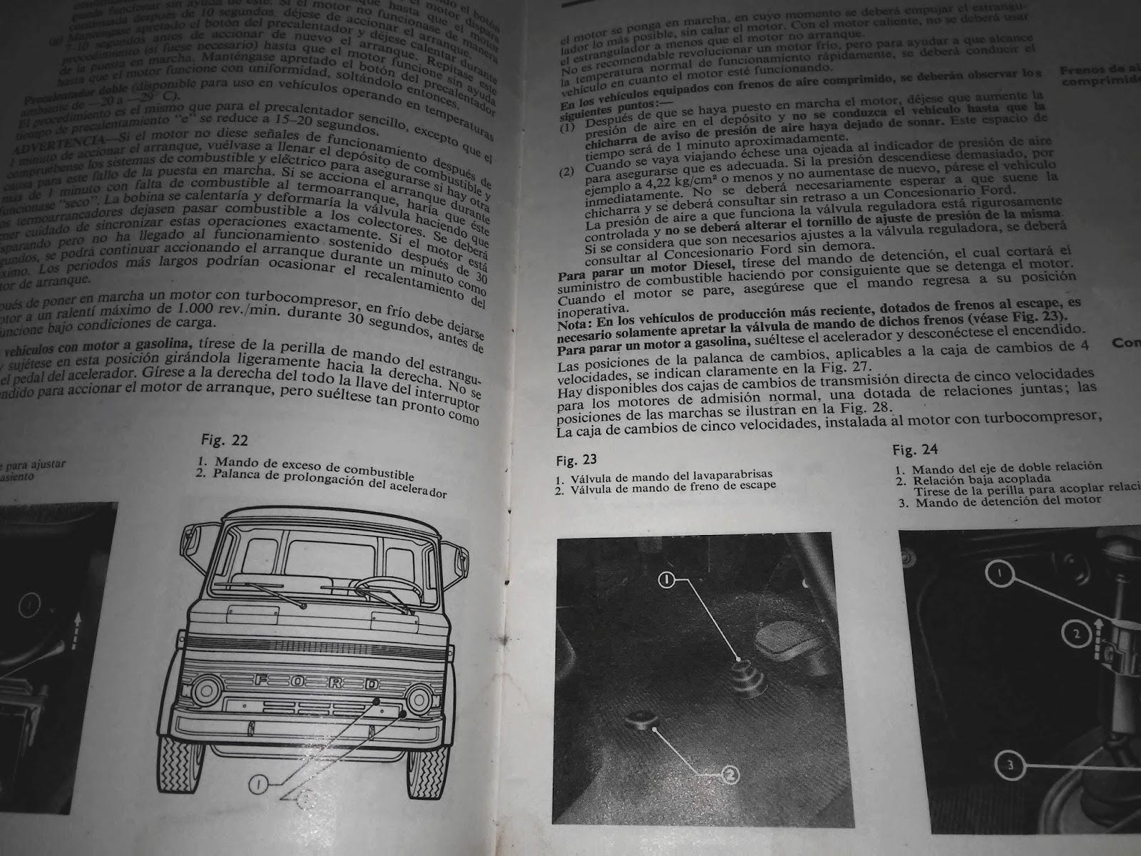 Manual De Usuario Original Camiones Ford Serie D En Español tel 094 24 44 11