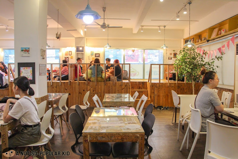 Wooden interiors of Cafe Noriter in Taft Avenue