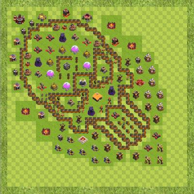 War Base Town Hall Level 10 By Antonio Puțică (Crazy Wolf TH 10 Layout)