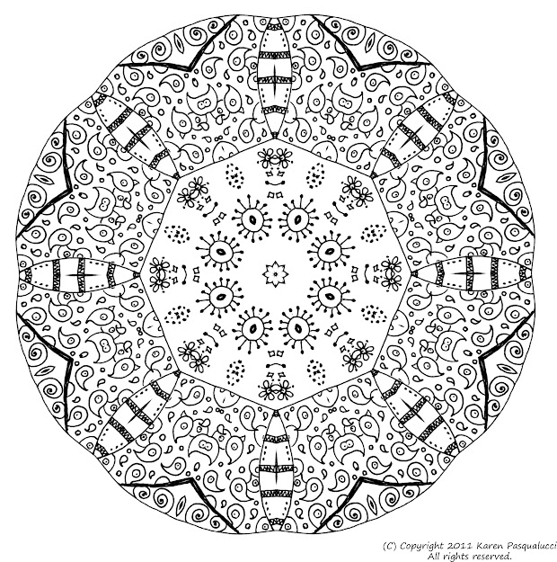 Mandala Coloring For Stress Relief With Please Use The Your Personal Growth  And Delight