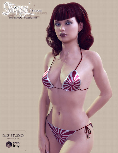 RealFit String Bikini Stroppy Textures