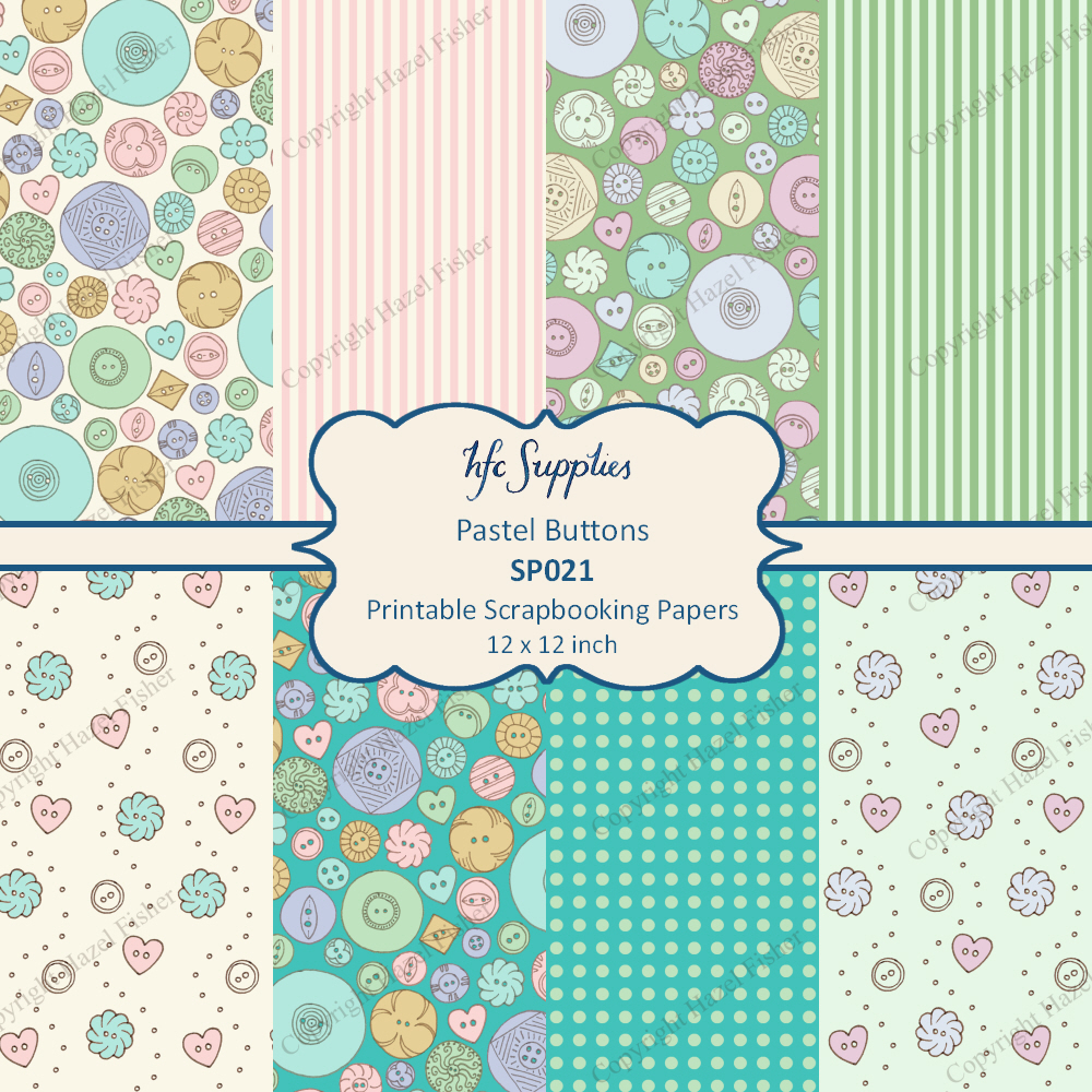 Hazel Fisher Creations: Printable Button Paper and New Wedding ...