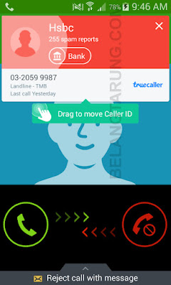 Contoh Panggilan Spam dari Bank