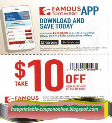 Famous footwear coupon october 2018