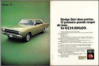 propaganda  Dodge Dart Coupê - 1970, Dodge Dart 1971, chrysler anos 70, carro antigo chrysler, anos 70, década de 70, propaganda anos 70, Oswaldo Hernandez,