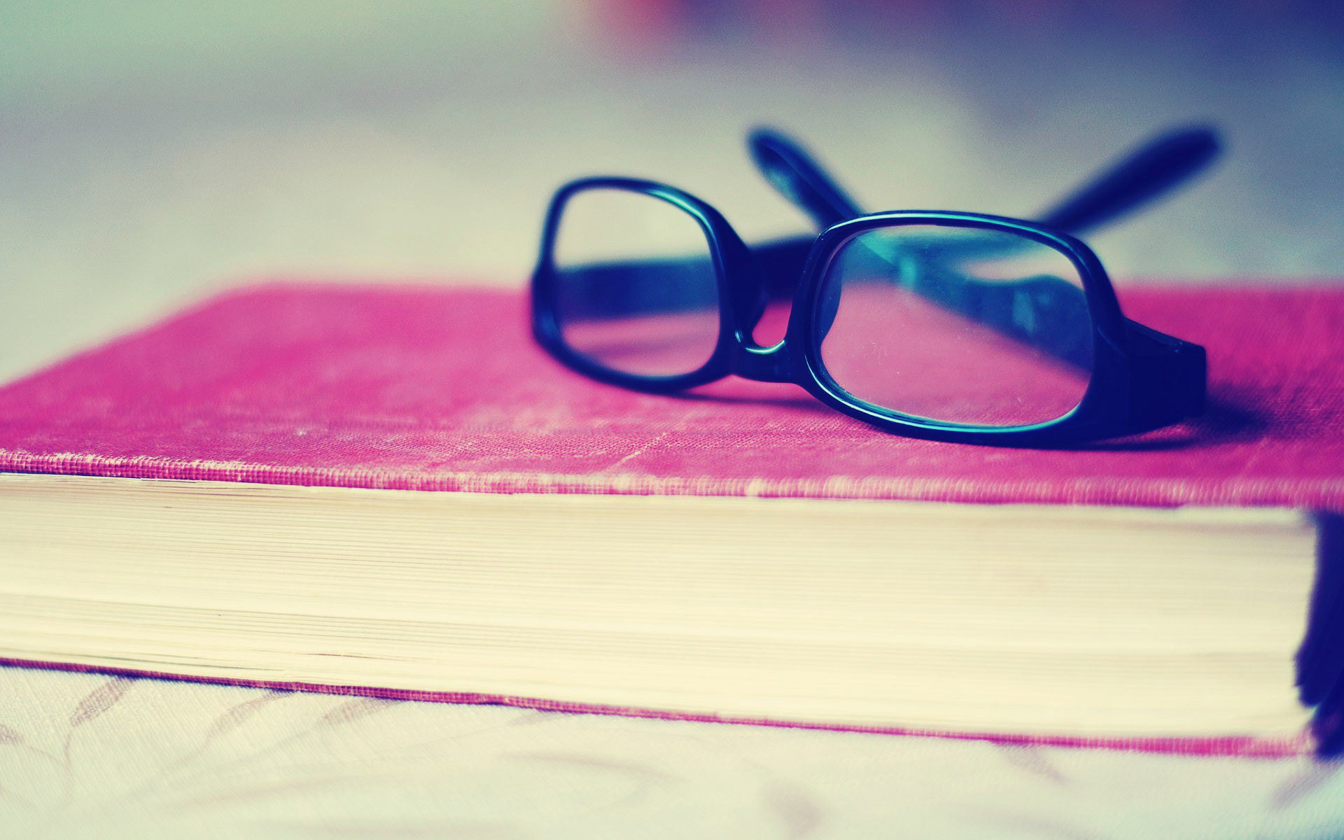 glasses on book - photo #1
