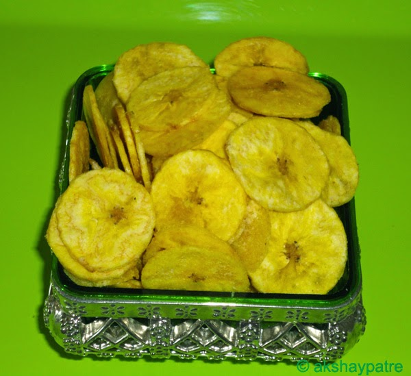 Banana chips ready to serve