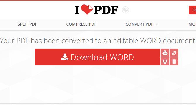 Cara mengubah PDF ke Word dengan ILovePDF