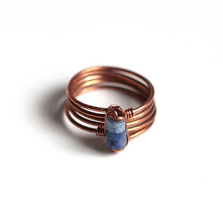 Copper Wire Sodalite Ring