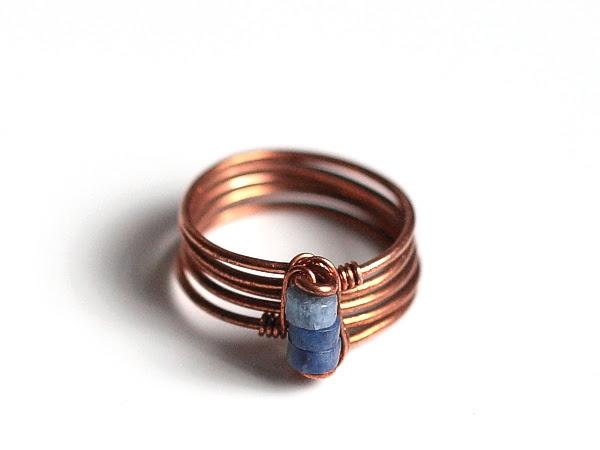 Copper Wire Sodalite Ring
