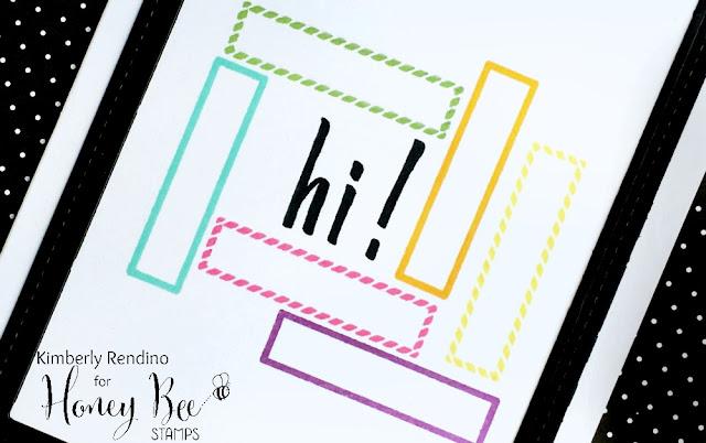framed greetings | honey bee stamps | kimpletekreativity.blogspot.com | handmade card | clear stamps