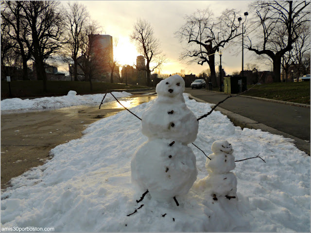 Muñecos de Nieve en el Boston Common