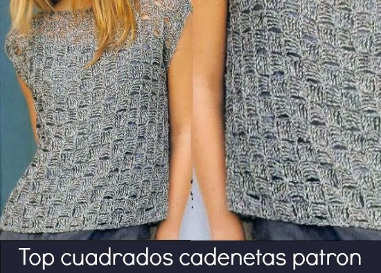 tops crochet, punto cesta, camiseta ganchillo