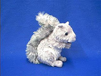 Silver Squirrel Stuffed Animal Plush Toy