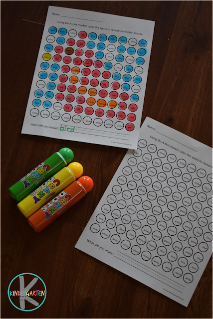 Winter Do a Dot Worksheets