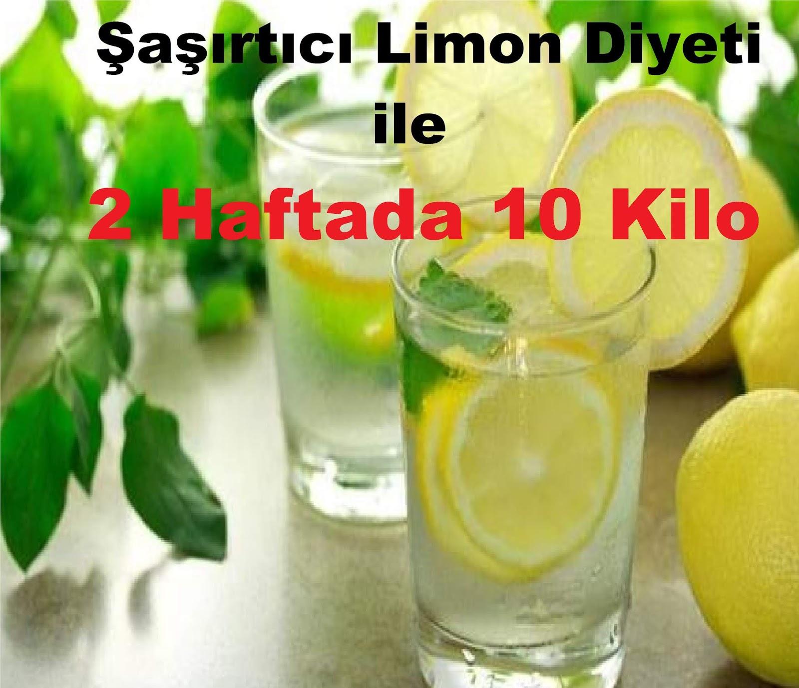 Limon Diyeti Haftada 2 Kilo