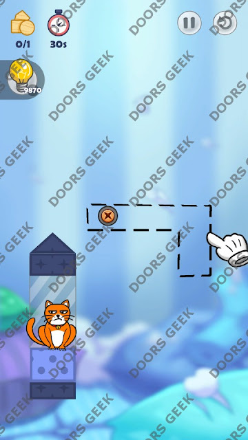 Hello Cats Level 64 Solution, Cheats, Walkthrough 3 Stars for Android and iOS
