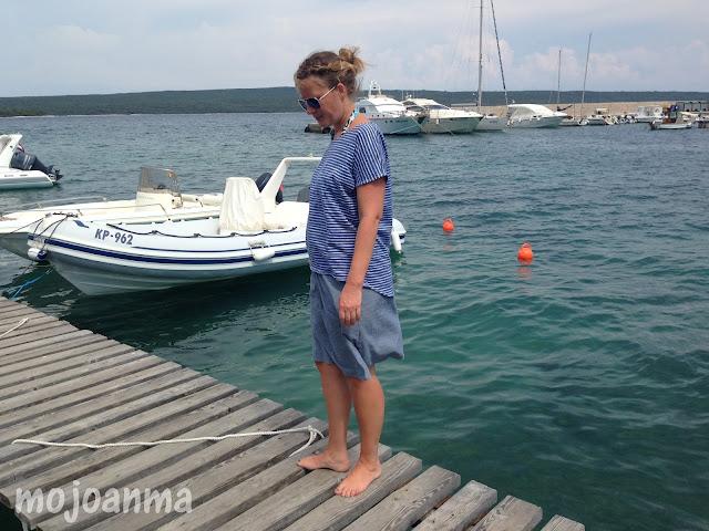 kroatien, schnittreif, fritzi, streifen , meer, blau