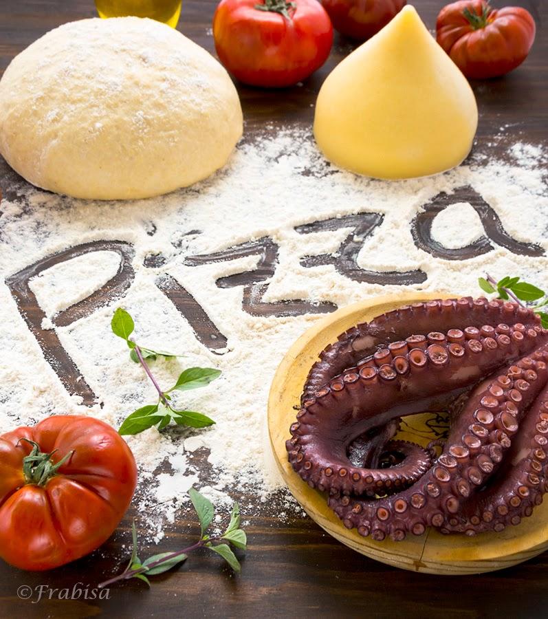 Pizza Gallega de Pulpo y Queso de Tetilla. Receta