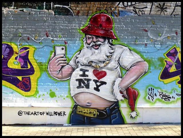 Graffiti Weihnachtsmann,  Weihnachten Nikolaus