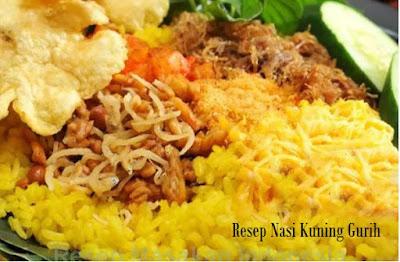 Resep Nasi Kuning Gurih