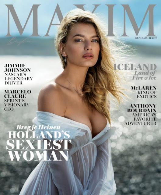 Bregje Heinen es la portada portada de Maxim para septiembre