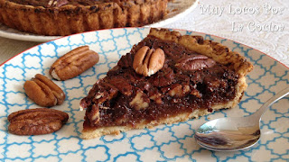 Chocolate Pecan Pie (Tarta Americana de Nueces Pecanas y Chocolate)
