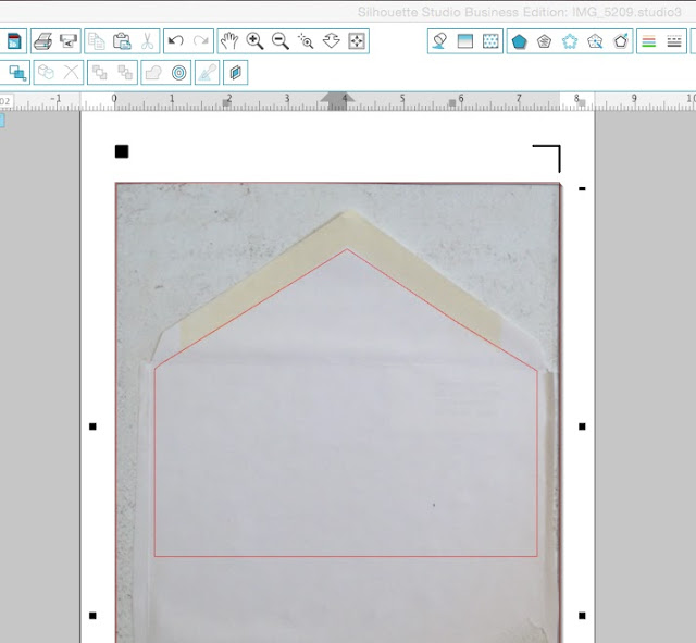 Make custom size envelope liner templates silhouette studio silhoeutte cameo portrait tutorials