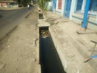 """Air dari Proyek Drainase di Jatiwangi Kota Bima Ini """"Bingung"""", Mau Mengalir Kemana"""