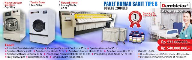 PROMO-PAKET-RS-B3 Menyediakan Kredit Usaha Laundry Hotel dan Laundry Rumah Sakit