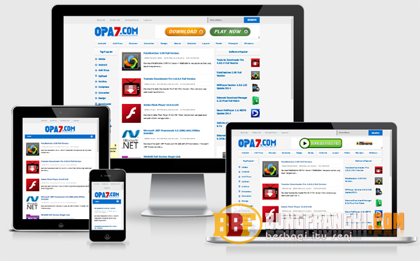 Free Download Opa7 Responsive Blogger Template