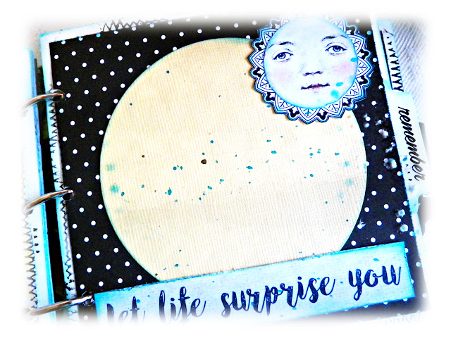 Happy Mini Album by Lisa Novogrodski for Scraps of Darkness using the April Kit Blue Skies and Sunshine