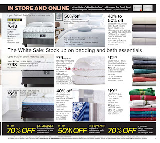 Hudson's Bay weekly Flyer January 6 – 12, 2017