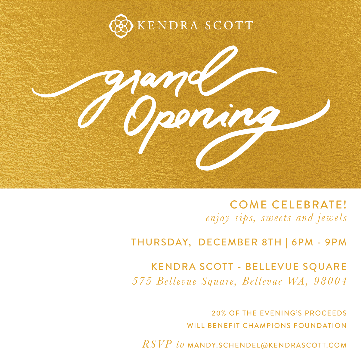 Kendra Scott Grand Opening at Bellevue Collection