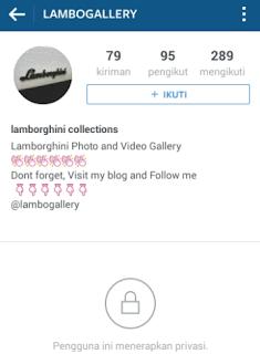 Cara Membuat Akun Private Untuk Mengunci Foto dan Video Di Instagram