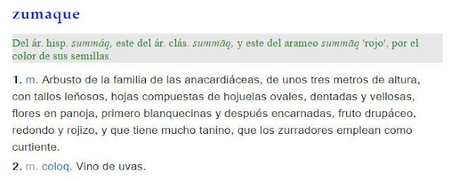 Zumaque - definición