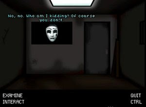 Masked freeware room escape adventure game