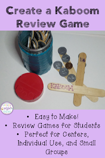 If you have spent way too much money and time on centers/games for your classroom, then check out this blog post! Learn how to create your own Kaboom games for almost free using materials you already own. These are perfect for ANY subject (reading, math, science, social studies, and more). Find out how this frazzled teacher uses them in her classroom! #confessionsofafrazzledteacher #teachingtips {Elementary Grades, Kindergarten, First, Second, Third, and Fourth Grades}