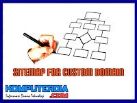 Cara Membuat SiteMap Untuk Custom Domain Di Blogger