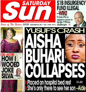 Aisha Buhari Collapses, Place On Bed Rest - The Sun