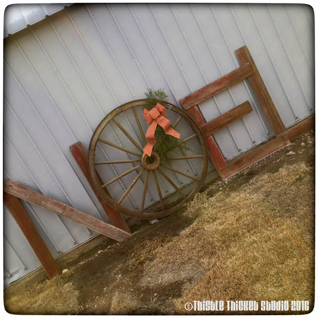 Thistle Thicket Studio, barnweed sign, wagon wheel letter, Noel sign, rustic Christmas decor