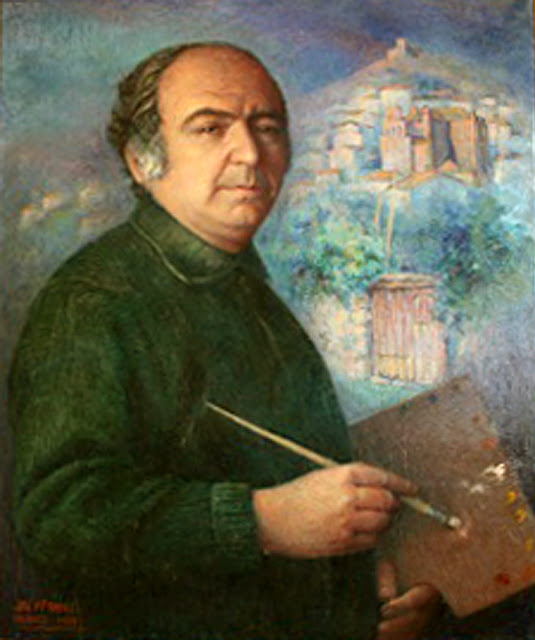 José María Franco Gutiérrez, Self Portrait, Portraits of Painters, José María Franco, Fine arts, Portraits of painters blog, Paintings of José María Franco, Painter José María Franco
