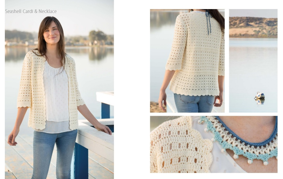 Seashell Cardi and Necklace crochet pattern