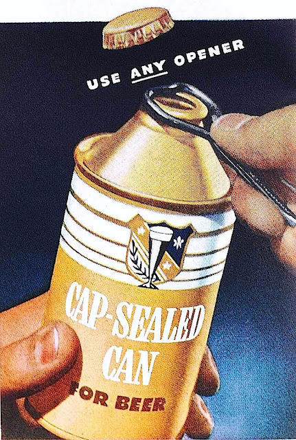 a 1941 bottle-shaped can with a cap
