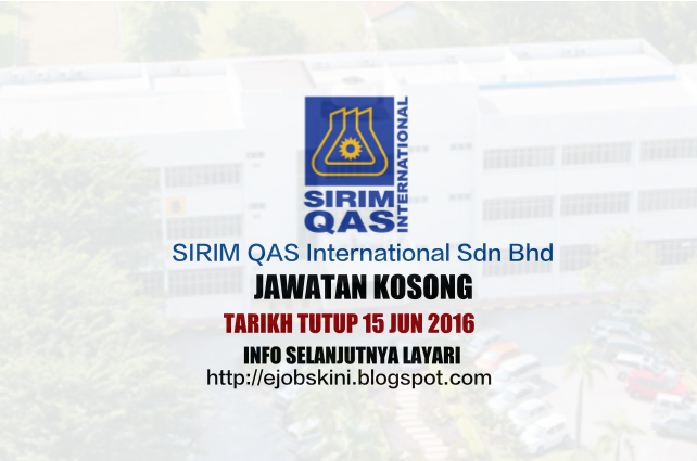 Jawatan Kosong SIRIM QAS International Sdn Bhd