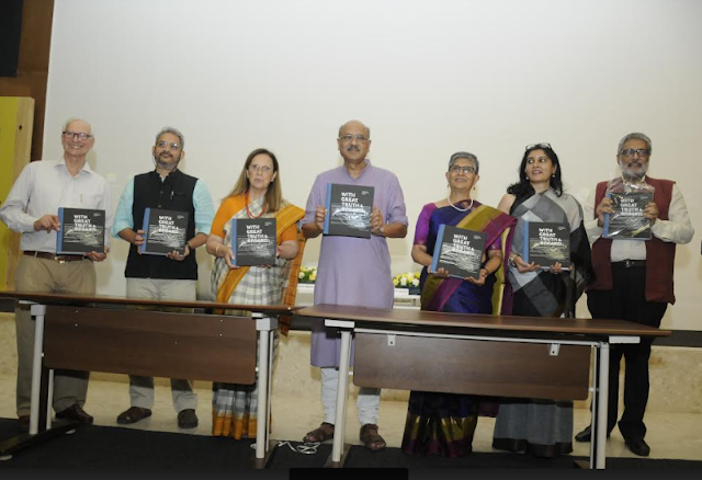 Photo caption: Jamshyd N.Godrej, Dr. Pheroza J.Godrej & Shekhar Gupta along with the contributors of the book at the launch of the book 'With Great Truth & Regard'  From left to right  Mr Jamshyd N.Godrej, Chairman & Managing Director, Godrej & Boyce  Chirodeep Chaudhuri, Contributor in the book  Dr. Pheroza J. Godrej  Shekhar Gupta, Chairman & Editor in Chief, ThePrint (Chief guest)  Indira Chowdhury, Contributor in the book  Sarita sundar, Designer of the book  Sidharth Bhatia, Founder, The wire