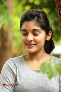 Actress Niveda Thomas Pictures in Black Jeans at Gentleman Movie Interview  0028