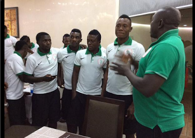 Photos: See How Super Eagles Player, Samson Celebrated His Birthday In Camp
