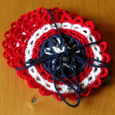 RSS Designs In Fiber Patriotic Coaster Set - shown as a Gift Set
