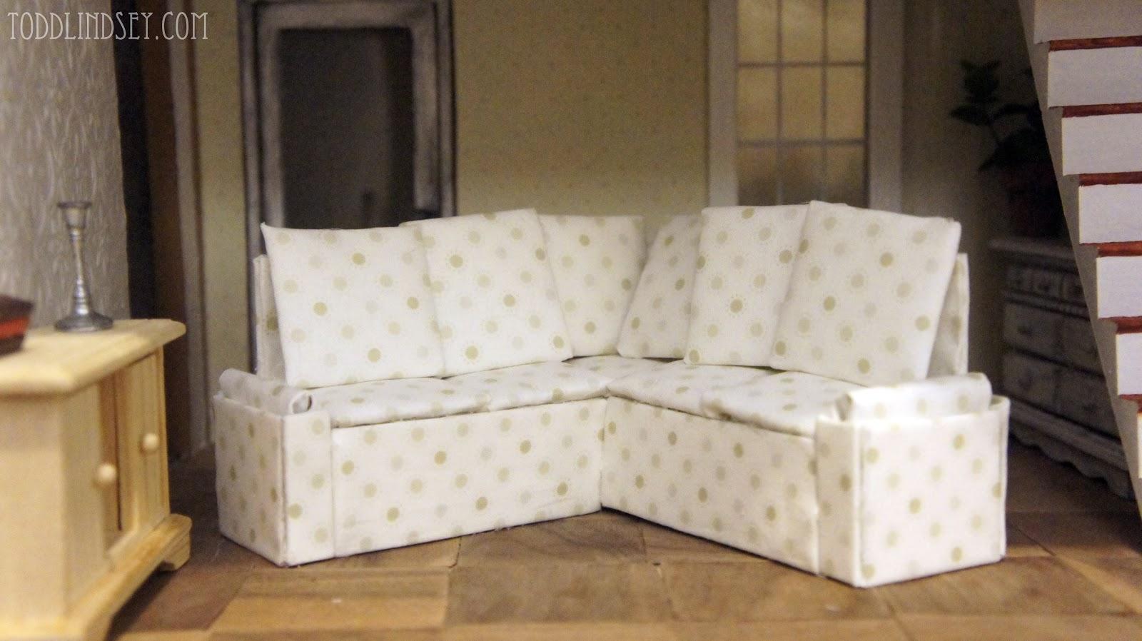dollhouse miniature sectional sofa cheap price domer home diy